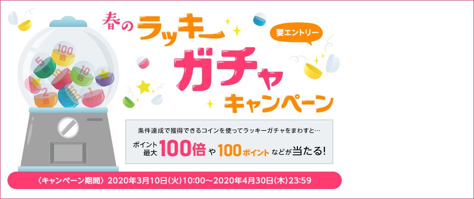 【楽天ポイントカード】春のラッキーガチャキャンペーン