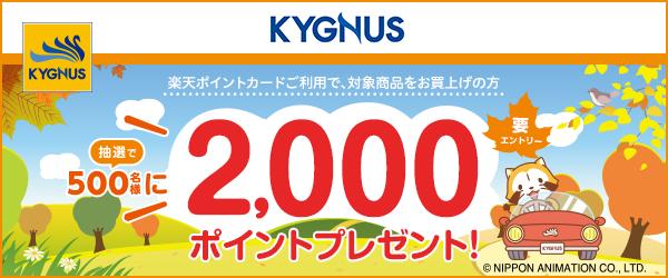 【キグナス石油】抽選で500名様に2,000ポイントプレゼント