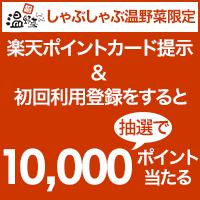 【温野菜】提示&初回利用登録すると抽選で1万ポイント当たる!