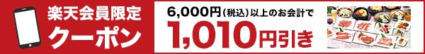 【楽天会員限定】1,010円引きクーポン